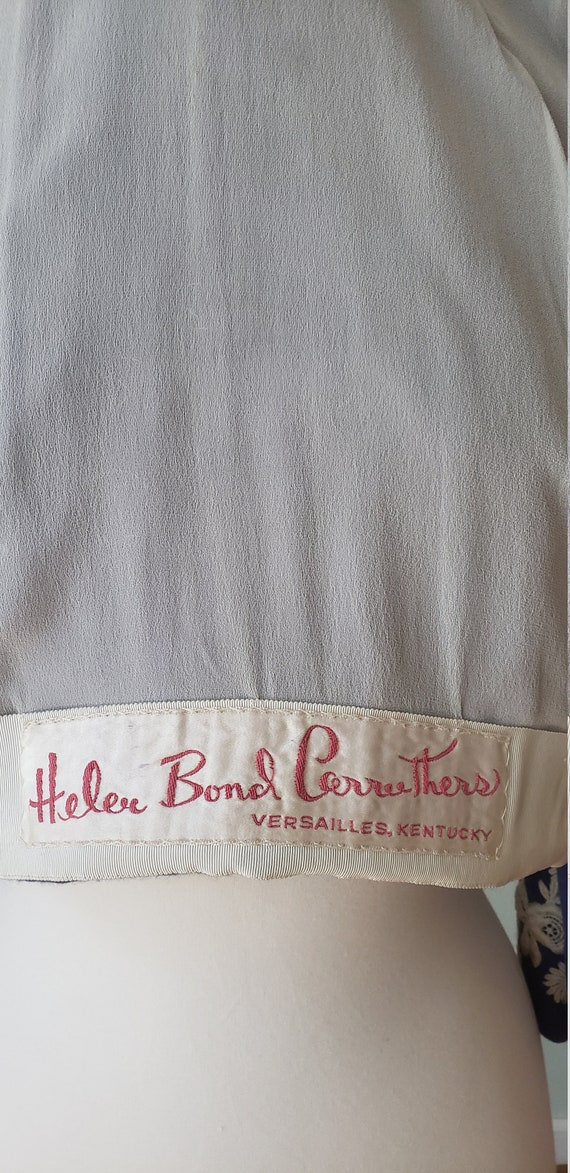 1950s Helen Bond Carruthers Embroidered Cashmere … - image 7