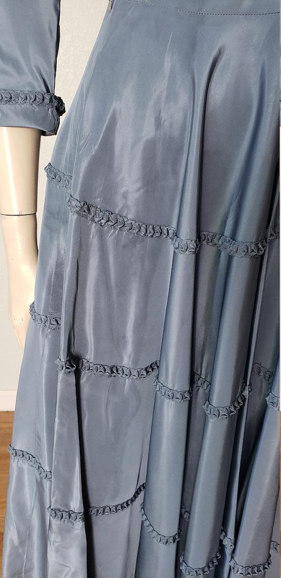 1940s Taffeta Party Dress with Jacket - 1940s Dre… - image 8
