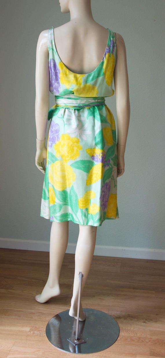 Original swinging 60s silk crepe dress by Harrods