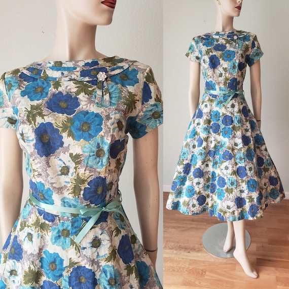 Deadstock 1950s Mode O Day Cotton Day Dress / NWOT