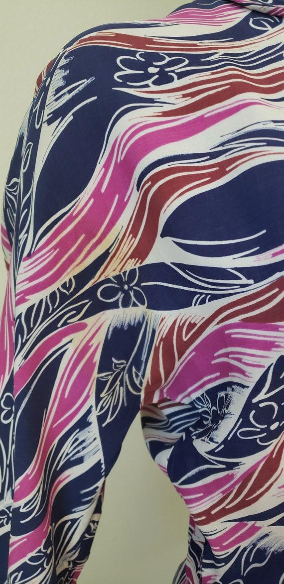 1940s-50s Rayon Shirtwaist Dress / 1940s Dress / … - image 7