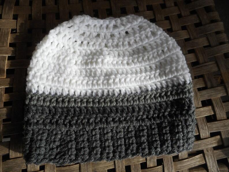24aa24447ad1e The Snowy Owl Messy Bun Beanie Hat Handmade Crochet Chunky