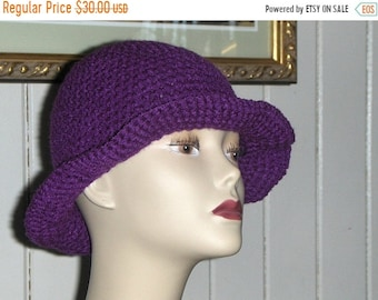 The Plum Pudding Crocheted Handmade Victorian Cloche Made to order