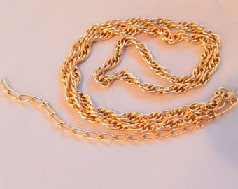 Vintage Sarah Coventry Gold Chain Necklace