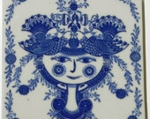 Rare Vintage Bjorn Wiinblad Blue Woman Wall Hanging on Etsy by EdibleComplex