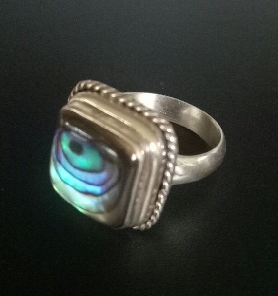 Handmade Ring  Shell Jewelry  Handmade Jewelry  Gold Ring  Stackable Ring  Shell Ring  Abalone  Statement Ring  Gift  Birthday