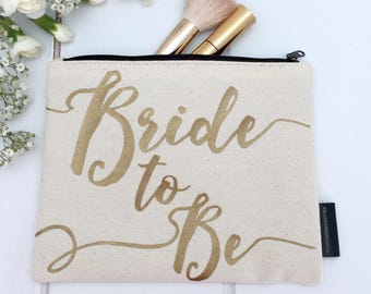 bbe7ec3804a2 Bride To Be Makeup Bag