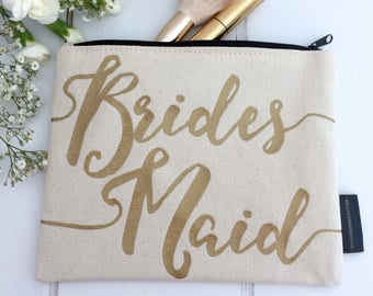 Bridesmaid Cosmetics Bag | Bridesmaid Make-Up Bag | Bridesmaid Makeup Bag | Be My Bridesmaid | Bridesmaid Thank You Gift | Bridesmaid Gift