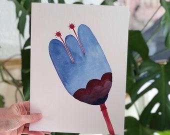 Flower Painting| Flower Art | Original Art| Wall Gallery Art | Modern  Art | Kelly Connor Designs