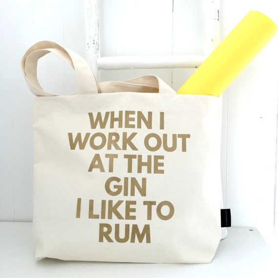When I Work Out At The Gin I Like To Rum Funny Gym Bag   Etsy bba9009129