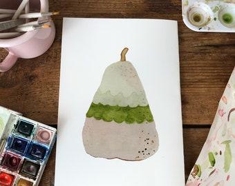 Fruit Painting | Cute Watercolour | Fruit Wall Art | Fruit Illustration
