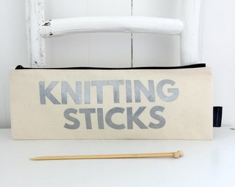 Knitting Sticks | Knitting Needle Case | Knitting Storage | Gift For Knitters | Knitting Accessories | Knitting Needle Bag | Knitting Gift