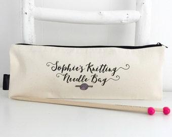 Personalised Knitting Gift | Knitting Needle Bag | Personalised Knitting Needle Case | Funny Knitting Gift