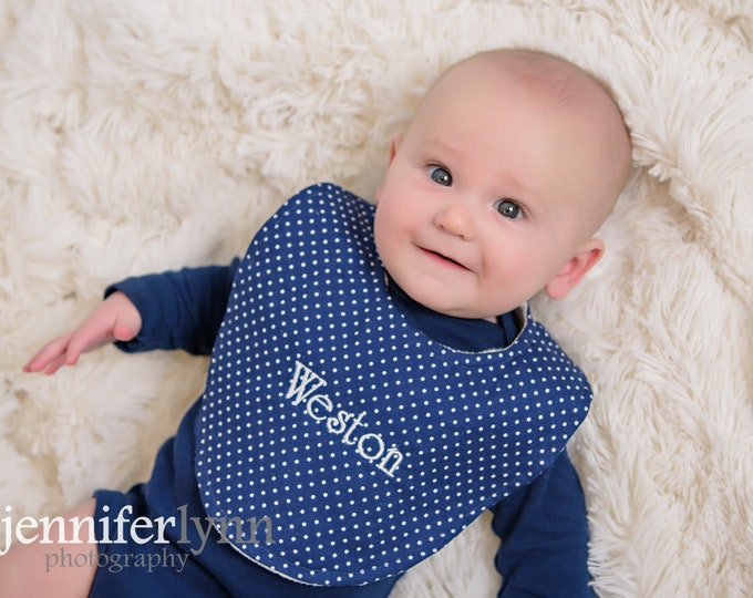 Boutique Bib - Baby Boy Prints - New Baby Gift, Personalized Baby Gift, New Baby Girl