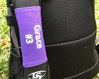 Sports Bag Tag - Custom colors - Perfect for Baseball, softball, soccer bags, lunchbox backpack