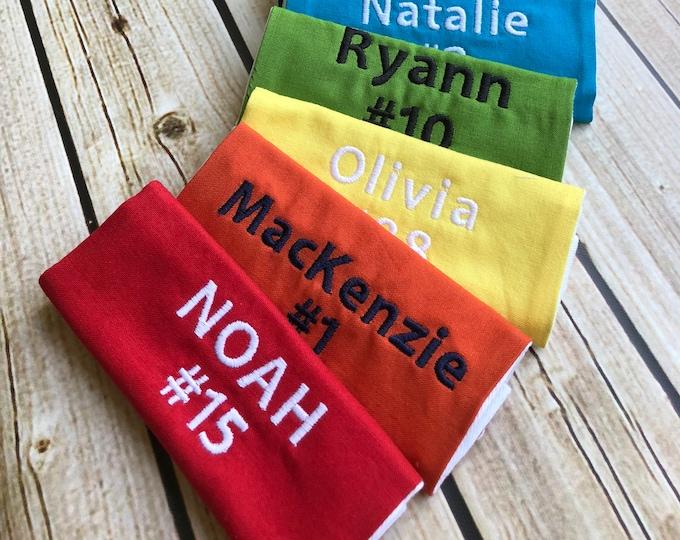 Sports Bag Tag - Custom colors - Perfect for Baseball, softball, soccer bags, lunchbox backpack