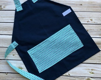 CLOSEOUT Kids Personalized Aprons - LIMITED QUANTITIES - Embroidered Name, Monogram, Preschool, Toddler Smock