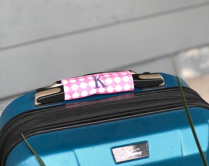 Monogrammed Luggage Handle Wrap - Set of 2  - Luggage Spotter, Handle Wrap, Stocking Stuffer