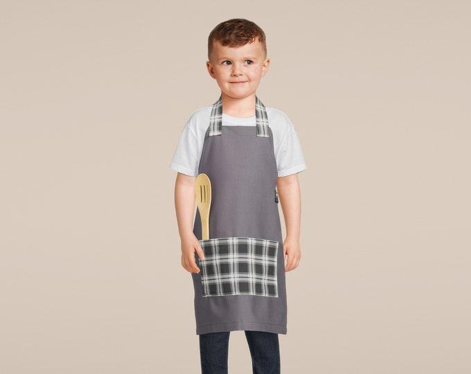 Handmade Kids Aprons - ALL NEW PATTERNS - Boys' Favorites - Kids Cooking, Birthday Gift, Preschool, Toddler Smock, Christmas gift, Baking