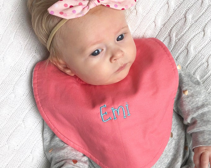 Boutique Bib - FREE Personalization - Baby Girl Options - New Baby Gift, Personalized Baby Gift, New Baby Girl