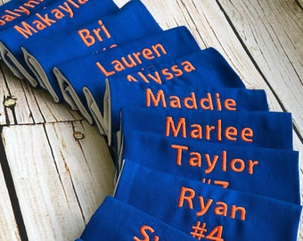 Sports Bag Tag - Team Set of 12 in Custom Colors - Perfect for Travel Ball