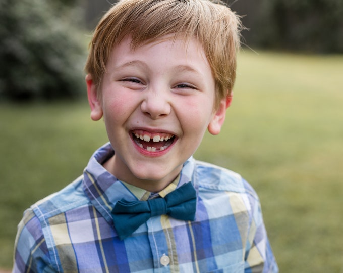 Little Boys Bowtie - Child or Infant - Choice of Plaids or Dots - Spring Photos, Wedding, Ringbearer, Dress Up