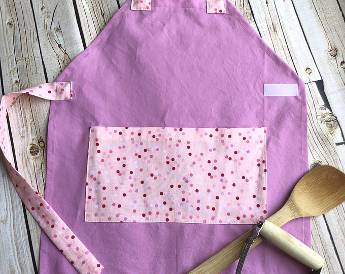 Kids Personalized Aprons - Girl Prints - Embroidered Name, Monogram, Preschool, Toddler Smock, Kid Chef, Cookie Exchange