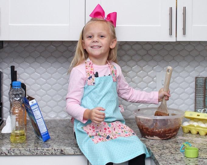 Kids Personalized Aprons - Girls' Favorites - Embroidered Name, Monogram, Preschool, Toddler Smock, Christmas gift