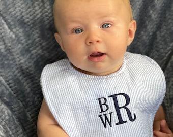 Boutique Bib - FREE Personalization - Baby Girl- Baby Boy - New Baby Gift, Personalized Baby Gift, New Baby Girl, New Baby Boy