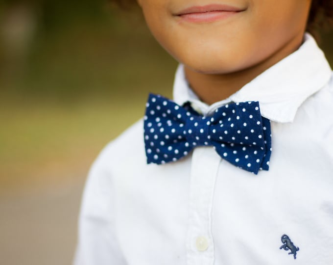 Little Boys Bowtie - Child or Infant - Choice of Plaids or Dots - Fall Photos, Wedding, Ringbearer, Dress Up
