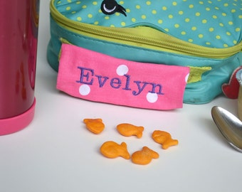 Personalized Handle Wrap - First Name - Perfect for Back to School, Lunch Box, Backpack, Stocking Stuffer, Christmas gift