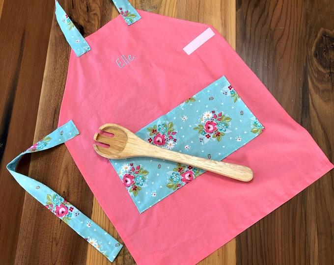 Kids Personalized Aprons - Girls' Favorites - Embroidered Name, Monogram, Preschool, Toddler Smock,