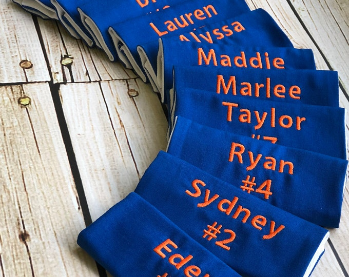 Sports Bag Tag XL for backpack straps - Team Set in Custom Colors - Perfect for Travel Ball