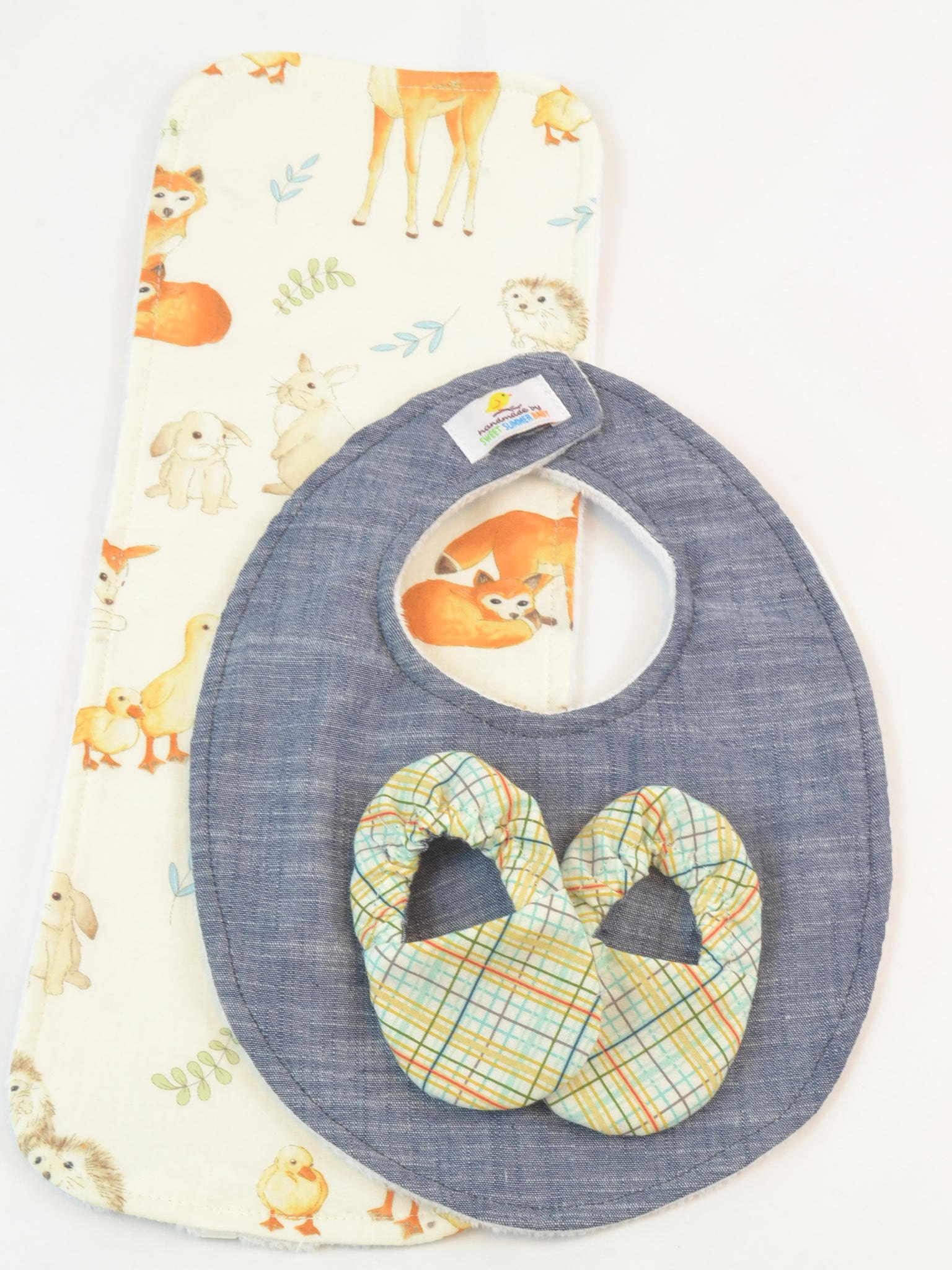 Forest Friends Bib  New Baby Gift, Personalized Baby Gift,