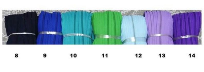 Custom listing #3 size zippers