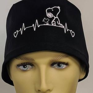 hybrid or men/'s style ponytail Dialysis scrub cap