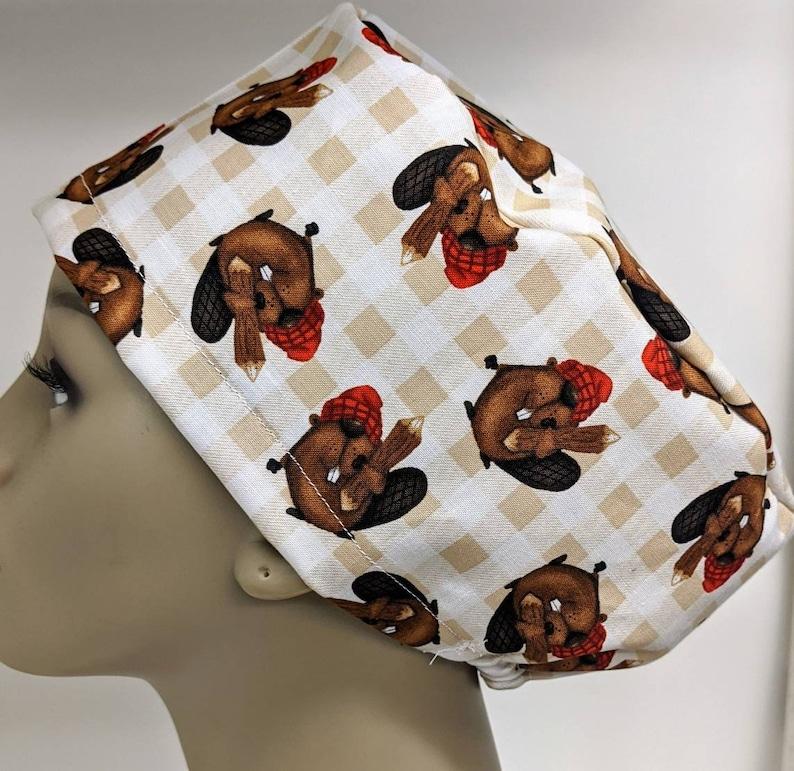 Beaver fever hybrid style scrub cap
