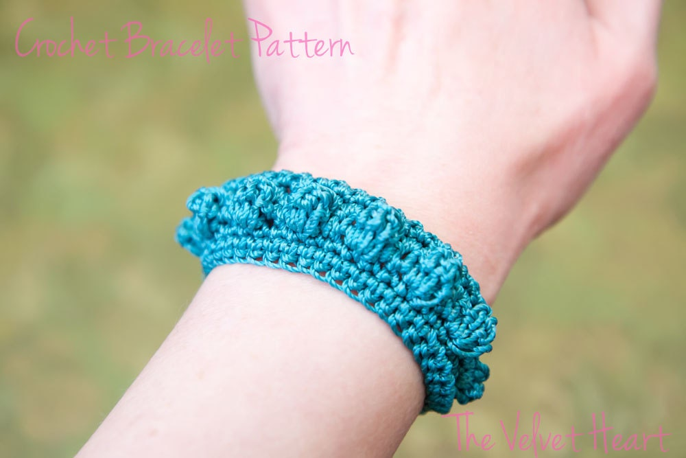 Crochet Bracelet Pattern Jewelry Tutorial Digital Download Etsy