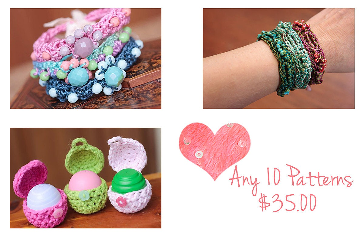 Jewelry Tutorials Crochet Bracelet Pattern Crochet Necklace Etsy
