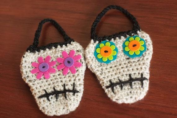 Crochet Sugar Skull Pattern Crochet Party Favors Halloween Etsy