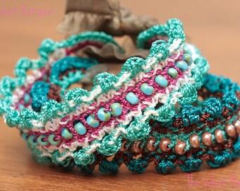 Crochet Jewelry Tutorial, Beaded Bracelet Pattern, Easy DIY, Crochet Bracelet Pattern, Crochet Jewelry Beads, Boho Bracelet Tutorial (28)