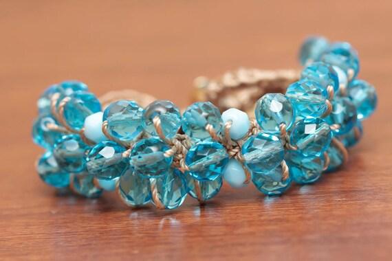 Crochet Jewelry Tutorial Crochet Bracelet Pattern Beaded Etsy