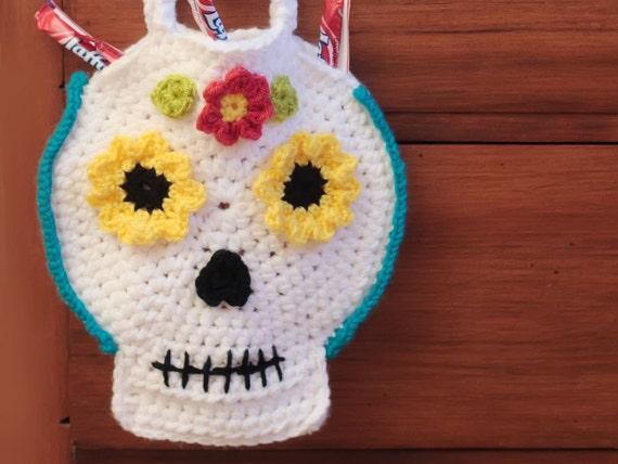 Crochet Halloween Bag Skull Pattern Halloween Crochet Etsy