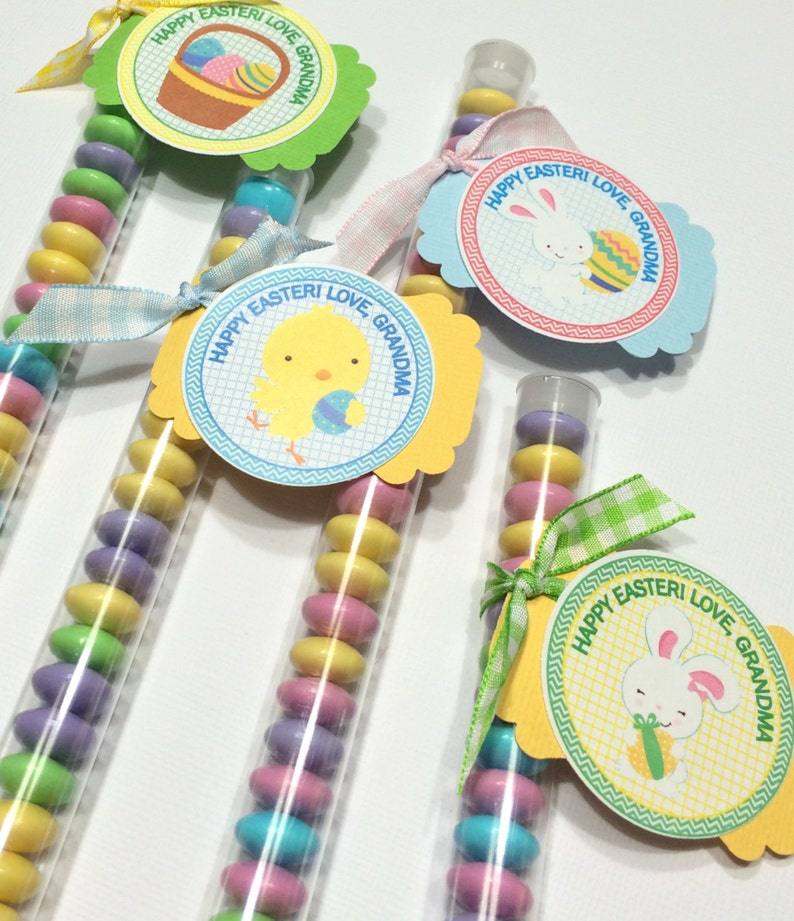 classroom treats easter favors teachers Easter Pals treat favor stacks for coworkers easter baskets Easter treats
