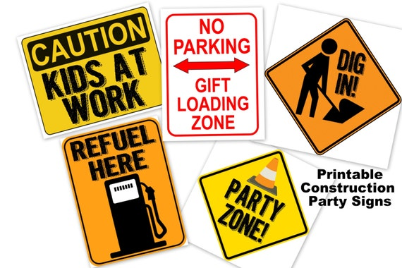 Agile image inside printable construction signs