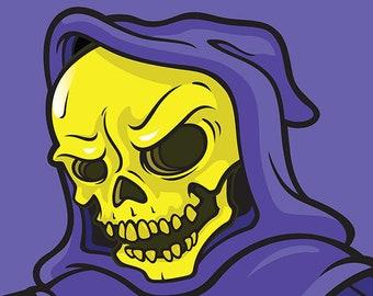 Skeletor - MOTU Inspired Art Print