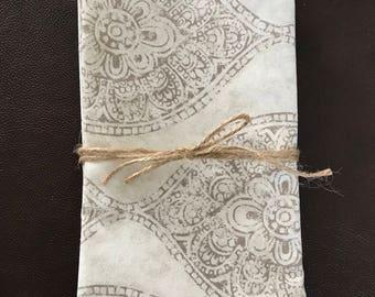 Large cloth napkins, cotton napkins, Cloth napkins,  handmade napkins, napkin ,reusable dinner napkins, eco friendly napkins
