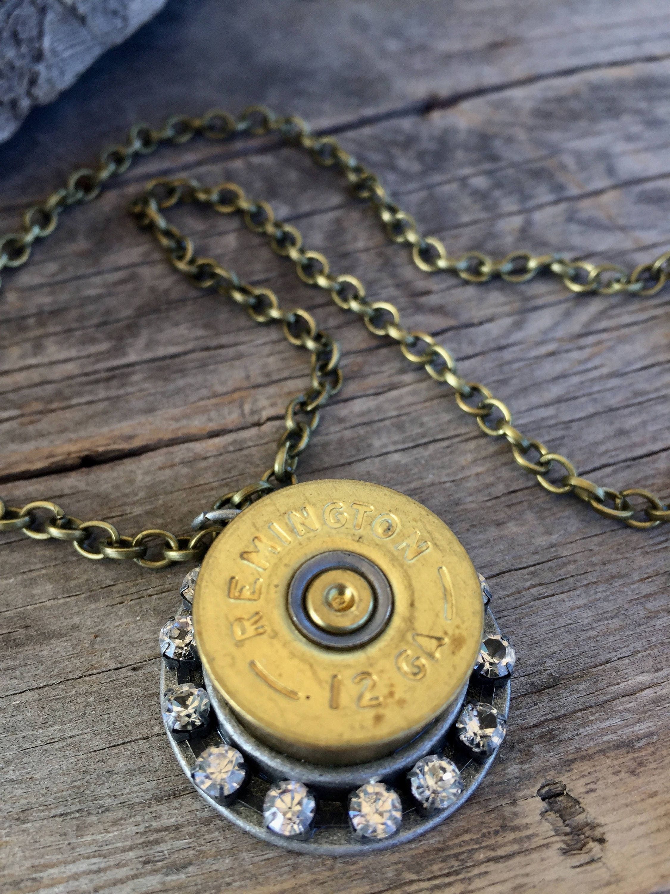 Bullet necklace country hunter girl jewelry gift western bling ...