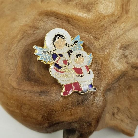 Inuit Alaska Angel Pin, Eskimo Angel Vintage Jewel