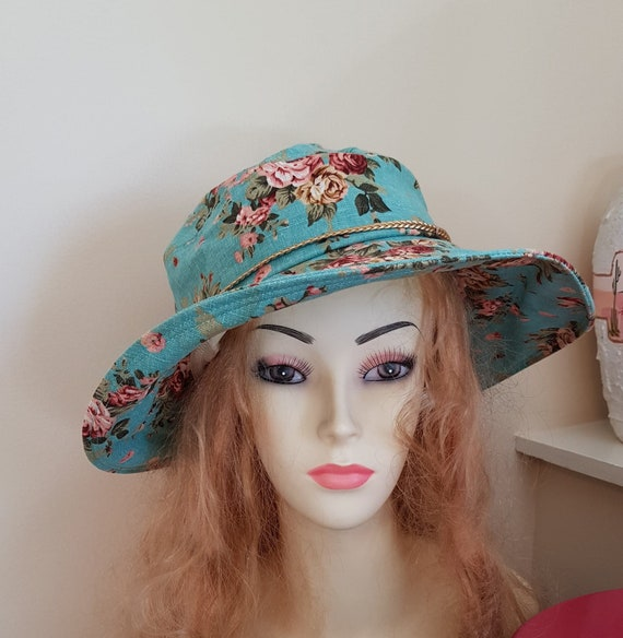 All Cotton Turquoise Sun Hat